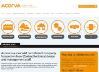 Acorva Recruitment's website