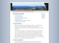 Chris Eilers CV/career services's website