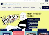 Disabled Persons Assembly New Zealand Inc's website