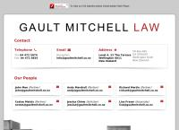 Gault Mitchell Lawyers's website
