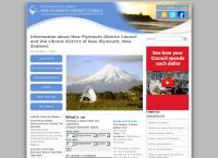 New Plymouth District Council's website
