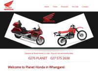 Planet Honda Motorcycles's website