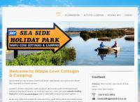 Waipu Cove Cottages & Camping's website
