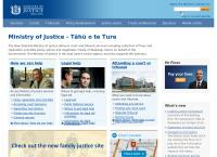 Ministry Of Justice's website