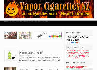 Vapor Cigarettes NZ Ltd's website